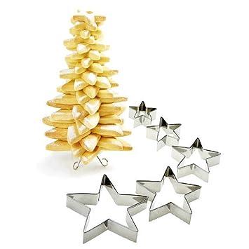 Tannenbaum Aus Plätzchen.Odn Plätzchen Ausstecher 9er Set Pentagramm Weihnachtsbaum