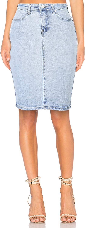 H HIAMIGOS Falda Vaquera de Mujer Falda para Mujer Falda Vaquera Mujer Negro y Azul