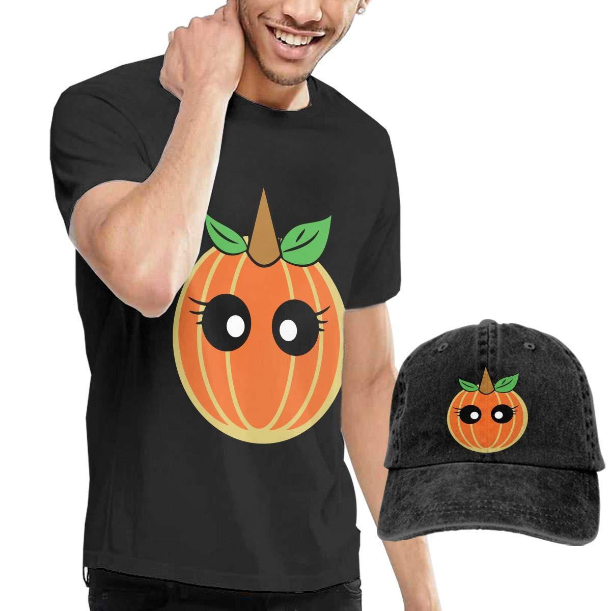 Unicorn Pumpkin Fashion Mens T-Shirt and Hats Youth /& Adult T-Shirts