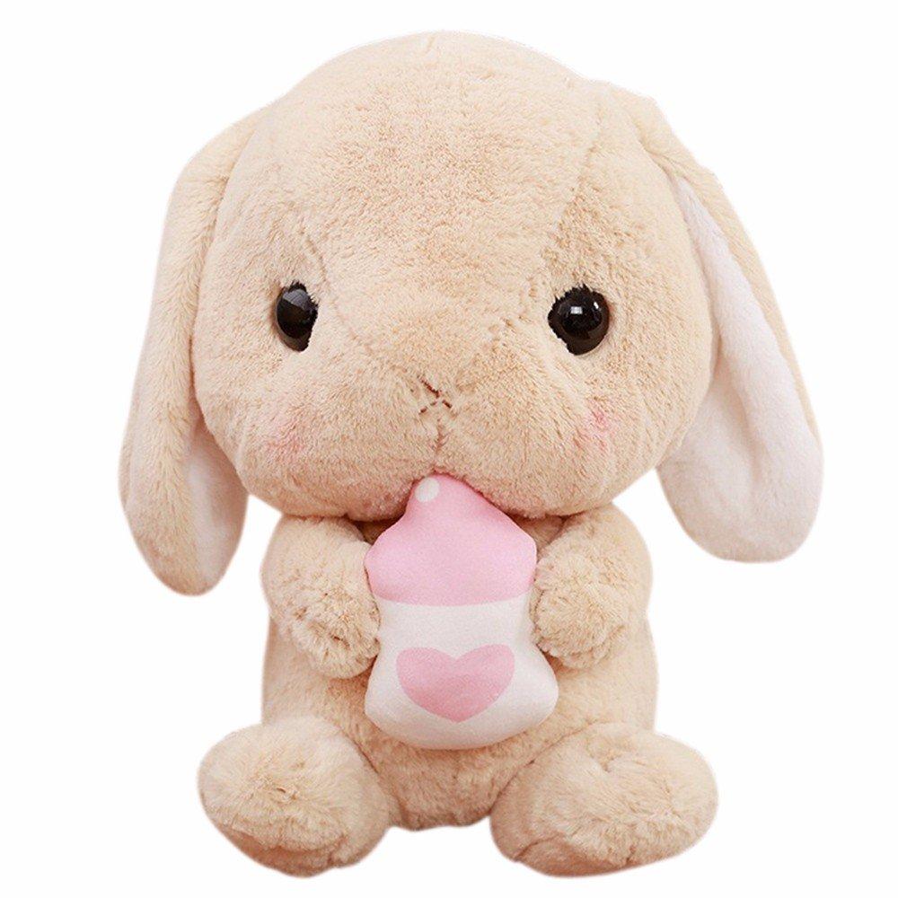 子ギフトキュートPlush Rabbit Plush Stuffed Animal 9インチぬいぐるみconvinced 1 ホワイト 1 B07878GXW7 ブラウン1
