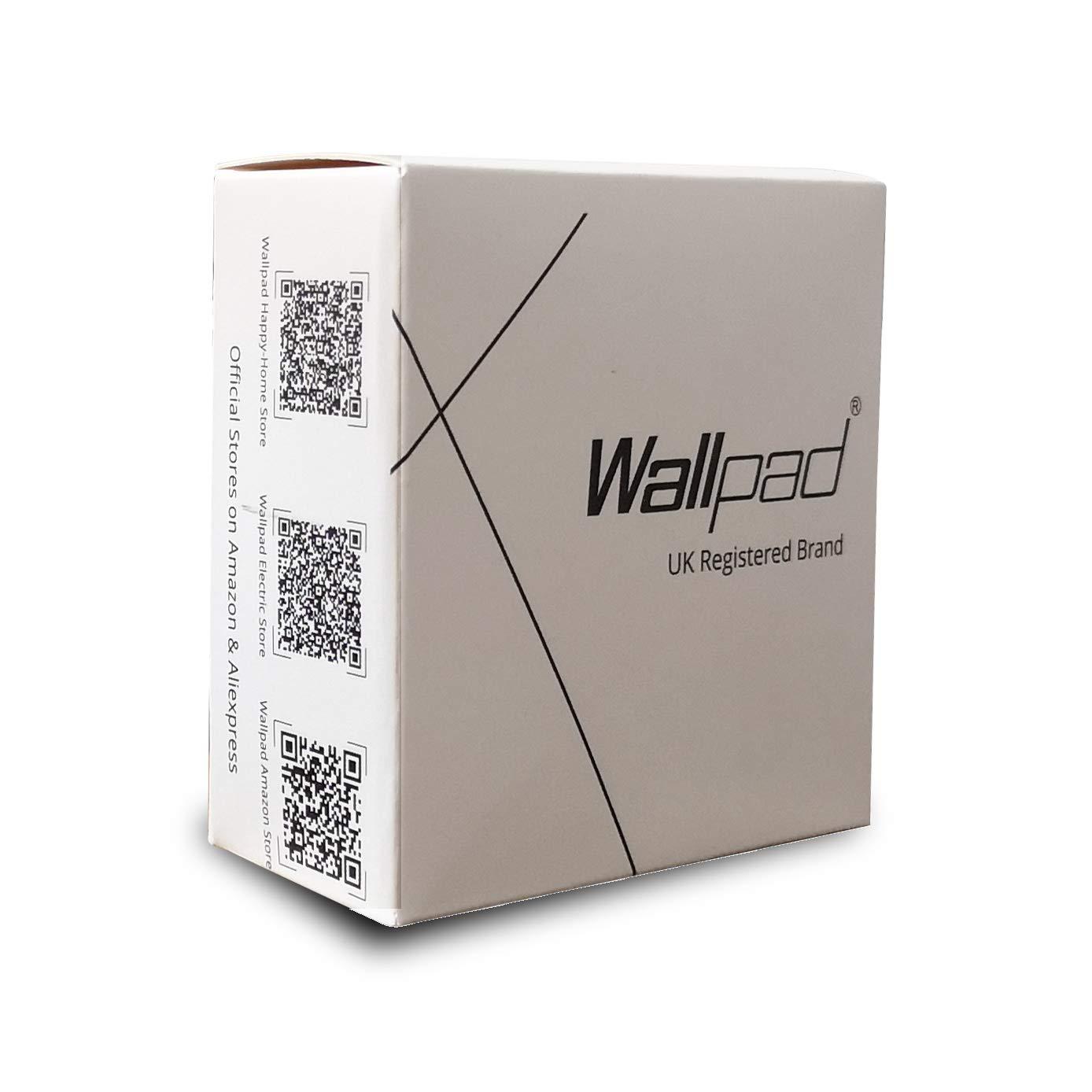 wallpad Lujo Negro Interruptor de luz de pared, acrílico, Power Socket, acrílico, 20A waterheater switch: Amazon.es: Hogar