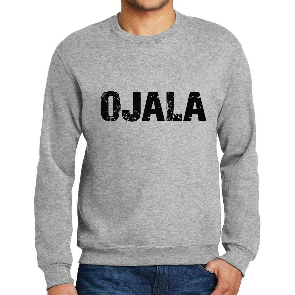 Ultrabasic Men/'s Printed Graphic Sweatshirt Popular Words Ojala Grey Marl
