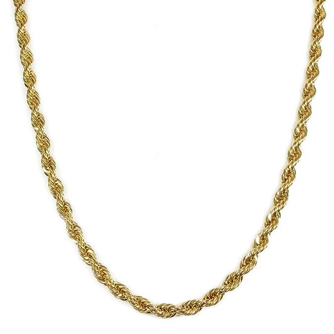 Amazon.com: Cadena de acero inoxidable de color dorado ...