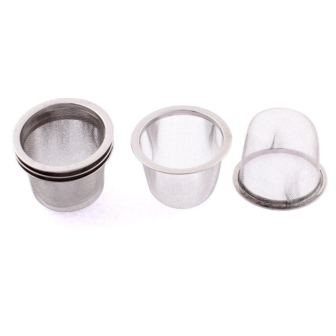 SODIAL Stainless Steel Home Mesh Tea Infuser Strainer Basket 62mm Dia 5 Pcs