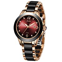 Watches Women's Fashion Waterproof Quartz Wrist Watch for Women Stainless Steel Watch for Girls