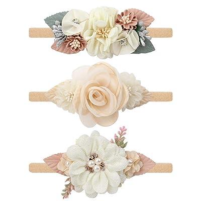 3pcs//set Headband Floral Rose Flower Wreath Baby Garlands Gold Leaves Hair Band