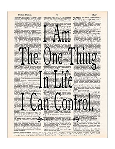 I am the One Thing in Life I Can Control, Hamilton Quote,