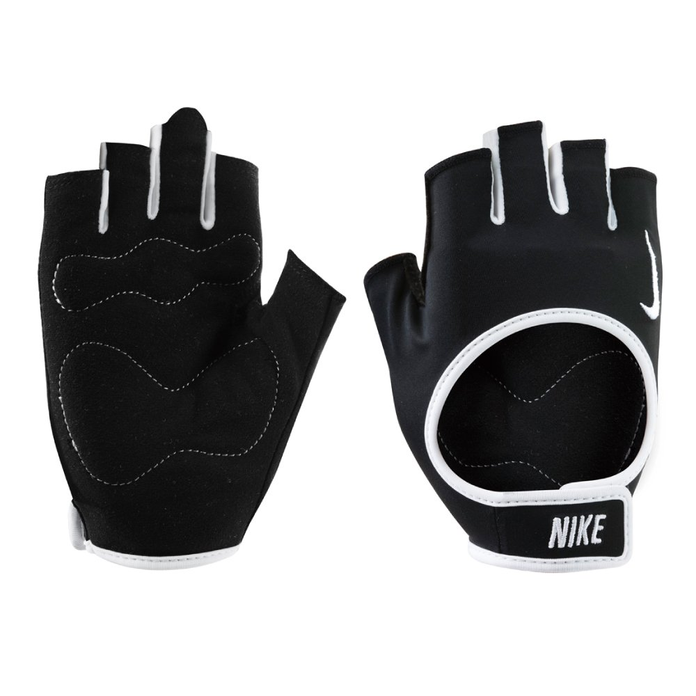 Nike Women's Fit Training Gloves, Medium (Black/White)