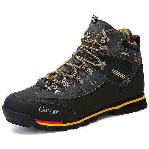 Hombres Transpirables Zapatos de Senderismo al Aire Libre Camping Escalada de montaña Botas de Senderismo Hombres Impermeables Pesca Deportiva Botas ...