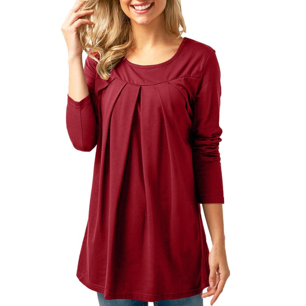 Clearance Casual Blouse Tops Shirts O-Neck Long Sleeve AfterSo Womens Gift