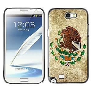 Jordan Colourful Shop - Eagle Painting Serpent God America For Samsung Note 2 N7100 Custom black plastic Case Cover