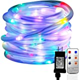 LED Rope Lights, Malivent 33FT 136 LED Christmas Rope Lights Indoor Outdoor with Remote,8 Modes/Timer, Waterproof, Low Voltage Fairy Light for Christmas Holiday Garden Patio Party Decoration(Colorful)