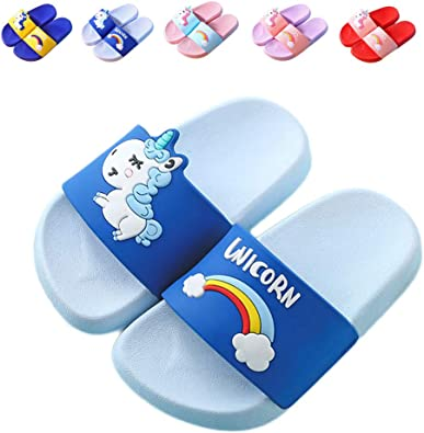 Boys and Girls You and Me Unicorn Slide Sandals Indoor /& Outdoor Slippers Shoes for Kids