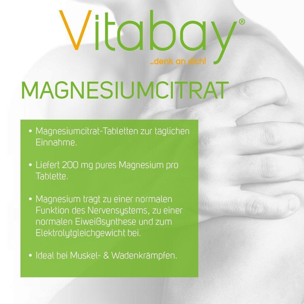 Dosis altas de citrato de magnesio - 120 tabletas veganas - proporciona 200 mg de magnesio puro por tableta: Amazon.es: Salud y cuidado personal