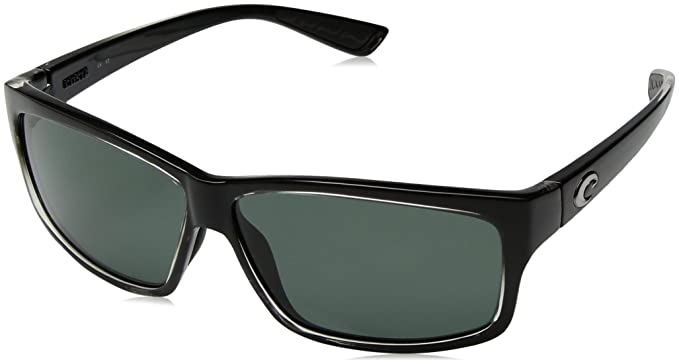 8045e2dda6288 New Costa Del Mar UT 47 Cut Squall Square Sunglasses for Mens - Size 580G  (Gray Lens)  Amazon.co.uk  Clothing