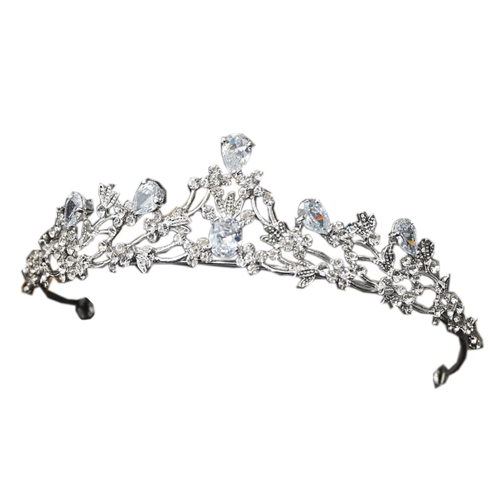 Crystal Tiara Crown Hair Accessories for Girl Hair Jewelry Silver Color Wedding Decoration Sunshinesmile