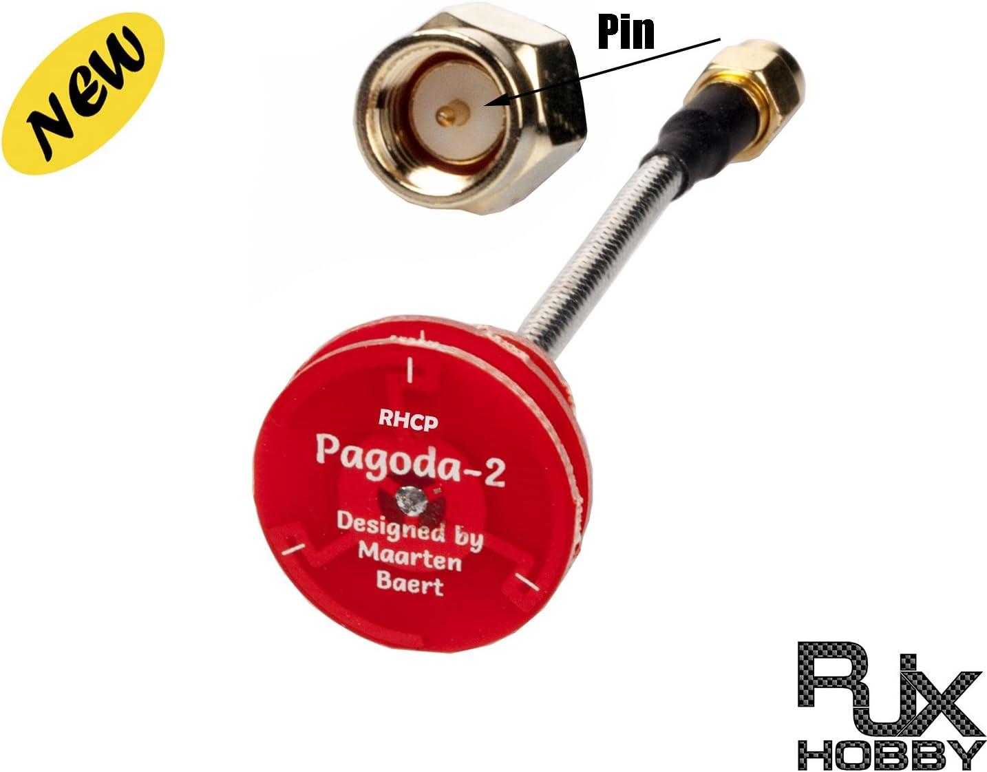 rjxhobby pagoda-2 Omni Antena 5,8 g transmisor receptor RHCP ...