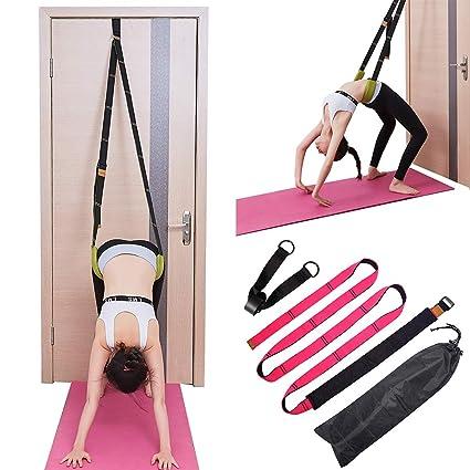 TOCO FREIDO Yoga Fitness Stretching Strap Adjustable Leg Stretcher & Back Assist Trainer, Improve Leg Waist Back Flexibility Great Ballet Cheer Dance ...