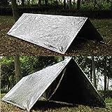 Peigen Emergency Tent Bag-Outdoor Emergency Tent Blanket Sleeping Bag Survival Reflective Shelter Camping- Survival Blanket Bags Portable Nylon Sack Camping, Hiking, Outdoor,