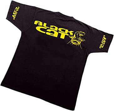 Rhino Black Cat T-Shirt schwarz verschiedene Größen
