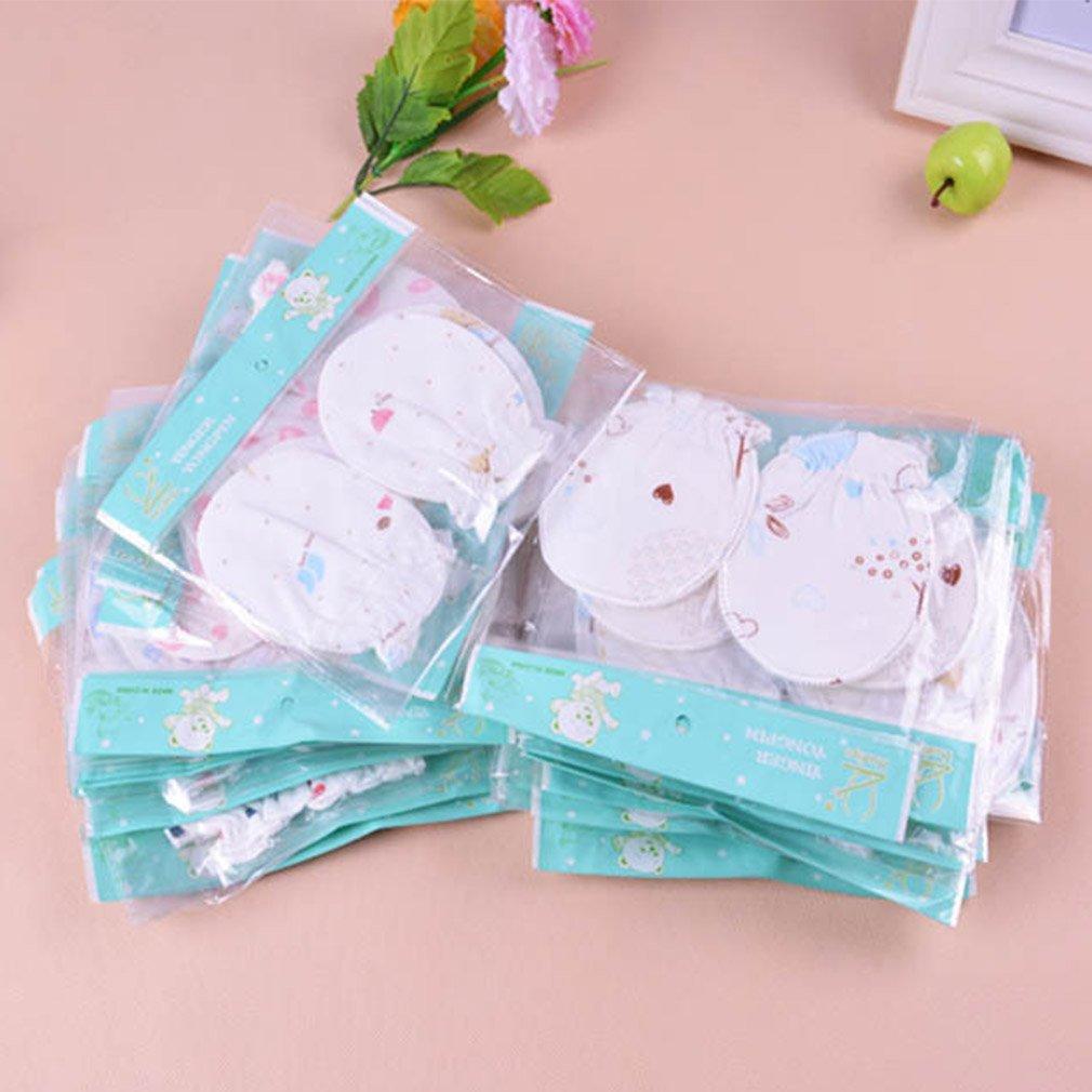 fd7adb2e6f42 5 paires Moufles bébé moufles nouveau-né Pastel Les rayures coton 0–6 mois  wyhweilong