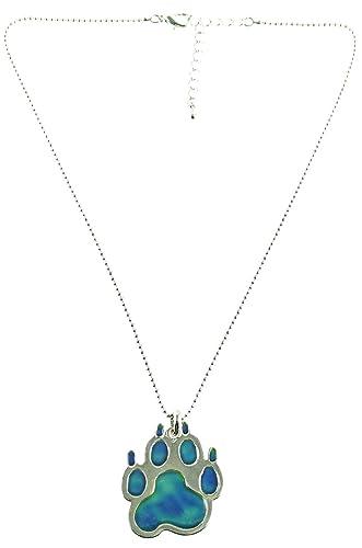 Amazon mood pendant necklace dog or cat paw with adjustable mood pendant necklace dog or cat paw with adjustable chain mozeypictures Image collections