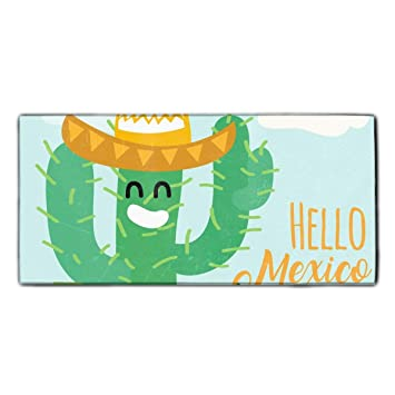 "Hello Mexico Cactus Dish Towels, 11.8 × 27.5"", Ultra Absorbent, Heavy Duty"