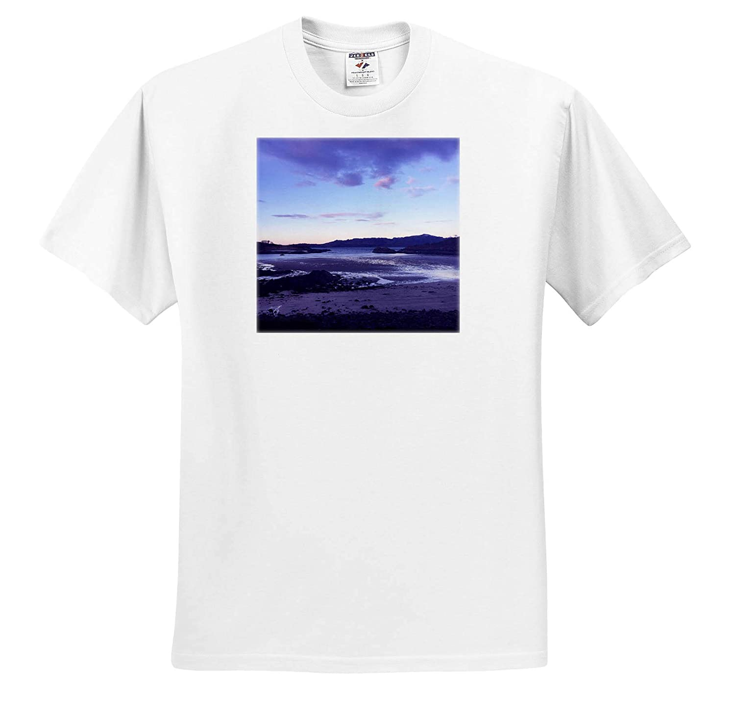 Sunset View at Loch Eil 3dRose Made in The Highlands T-Shirts Loch Eil Photograph Highlands of Scotland