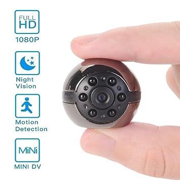 DH Electronic Cámara Espía HD 1080P SQ9 Mini Cámara Oculta 360 Grados Giratoria Mini Sport Cámara