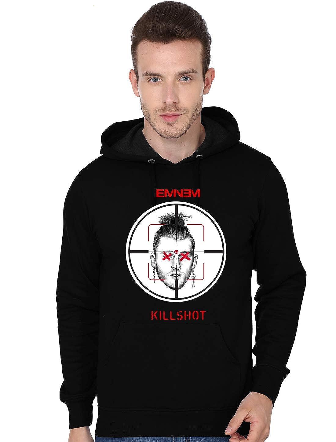 10b7d51d705aa Gui Shirts Men's Cotton Eminem Kamikaze Killshot Black Hoodie ...