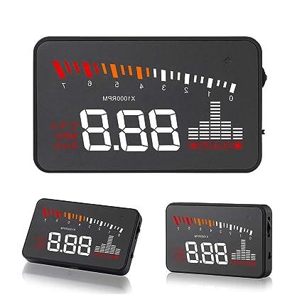 Amazon.es: Pantalla HUD Head Up Display GPS para coche HUD OBD ...
