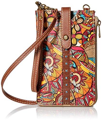 Calfskin Billfold Wallet - Sakroots Ella Smartphone Sling, Berry Spirit Desert