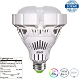 [UPGRADE] SANSI BR30 35W (300W Equiv.) LED Bay Floodlight Bulb, 4000lm, 5000K Daylight, CRI 80+, Non-dimmable, E26 to E39 Adapter, Garage Basement Factory Warehouse Church Sport Hall Security Lighting
