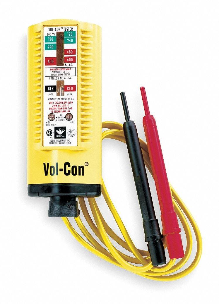 Ideal Industries 61-076 Voltage/Continuity Tester 5 - 600 Volt AC/DC Vol-Con