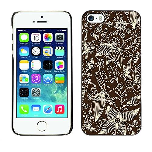 Premio Sottile Slim Cassa Custodia Case Cover Shell // V00002528 motif floral // Apple iPhone 5 5S 5G