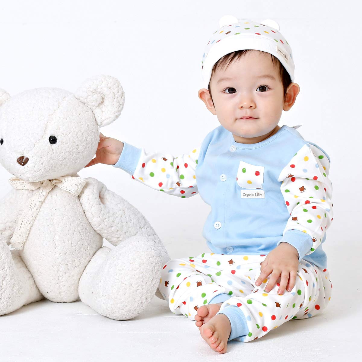 Fall,Winter,Spring organicboom BigDot 100/% Organic Cotton Pajamas Long Sleeve Baby Boy and Girl