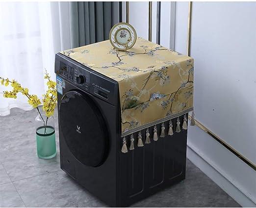 ZDDT Refrigerador Nuevo Chino, Lavadora Cubierta de Tela de Toalla ...