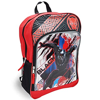 "Karacter Corner Marvel Black Panther King of Wakanda 16"" Backpack, Large Front Zipper Pocket w/ 2 Mesh Side Pockets: Toys & Games"