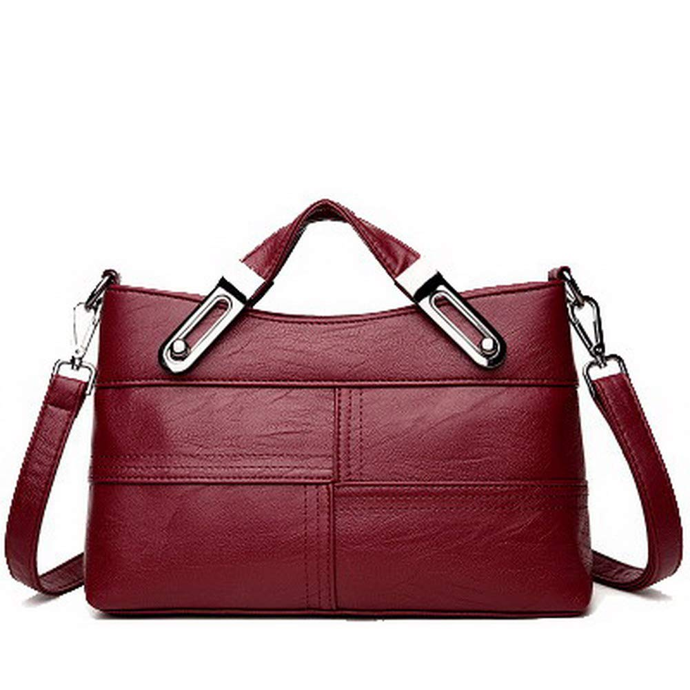 Claret WeiPoot Women's Casual Tote Bags Pu Chains Crossbody Bags,EGHBG208596