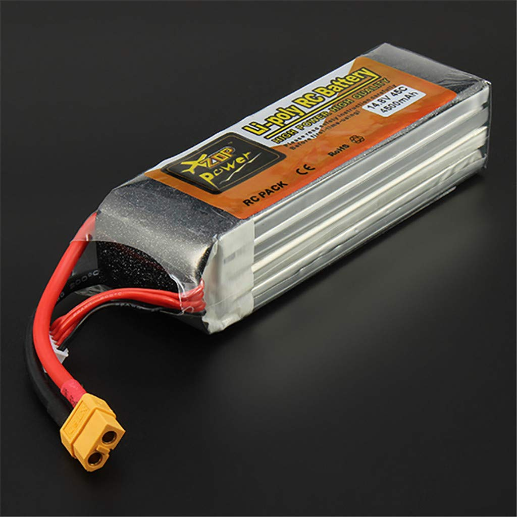 Giokfine 2019 ZOP Power 14.8V 4500mAh 4S 45C Battery XT60 Plug for RC Car Helicopter Part by Giokfine (Image #3)
