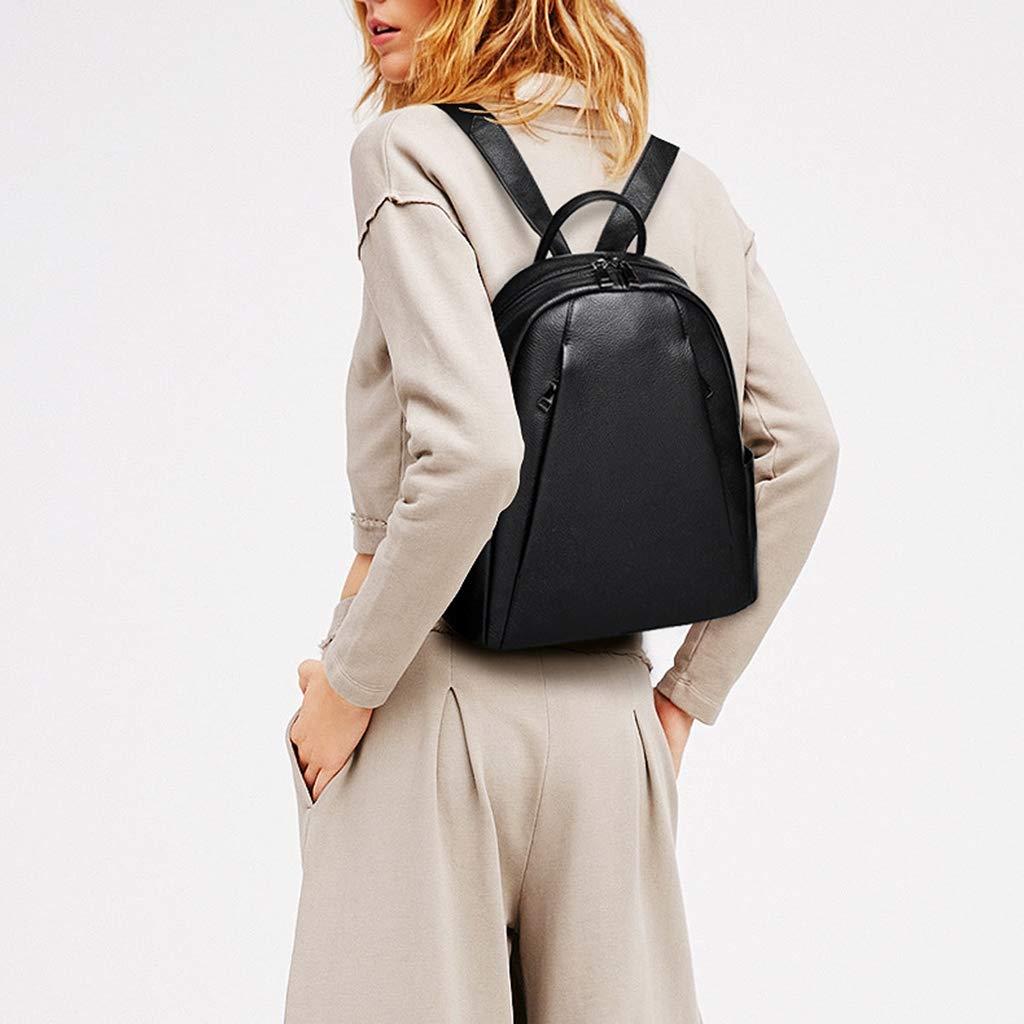 Kyusong Ladies Womens Backpack Genuine Leather Casual Rucksack with Headphone Jack Multifunction Anti-Theft Shoulder Bags Handbags