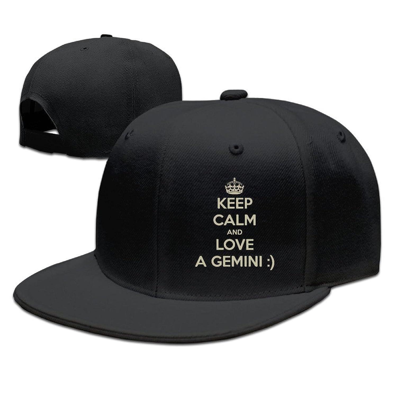 HNN Unisex Keep Calm And Love A Gemini Flat Baseball Caps Hats