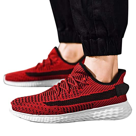 Amazon.com | KESEELY New Men Shoes Sports Korean Style Breathable Non-Slip Fashion Running Mesh Shoes Sneakers | Motorcycle & Combat