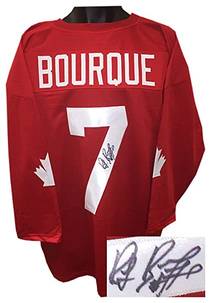 Image Unavailable. Image not available for. Color  Ray Bourque Signed  Autograph Team Canada Red TB Custom Stitched Hockey Jersey ... 7a12e2a4c