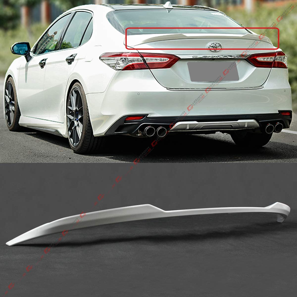 Amazon.com: Cuztom Tuning Fits for 2018-2020 Toyota Camry LE XLE Hybrid V  Style Rear Trunk Lid Spoiler Wing- Painted Gloss White Finish: AutomotiveAmazon.com
