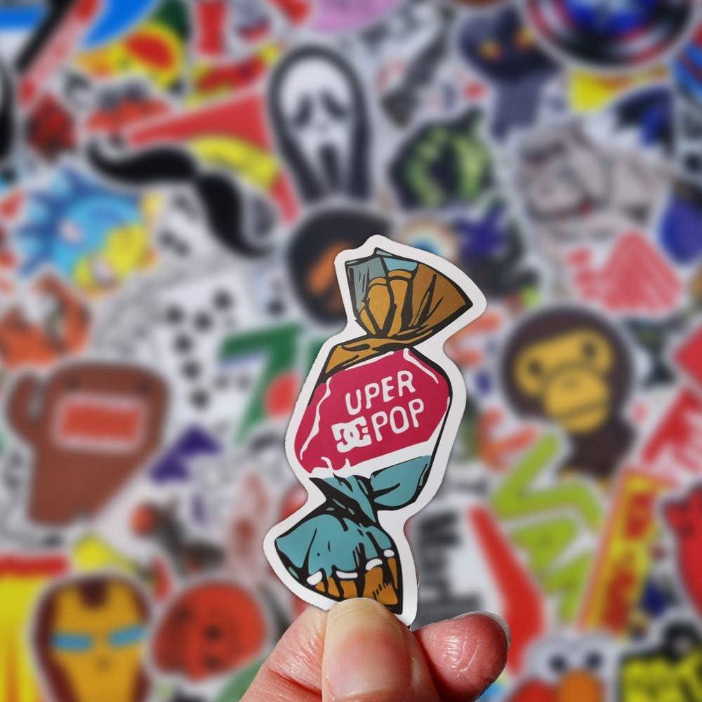 ROZO Aufkleber Set Einzigartige Coole Stickers Aufkleber f/ür Motorrad Fahrrad Auto Laptop K/üHlschrank Skeatboard Tablet 100 St/ück Trendy Anime Vinyl-Aufkleber Wasserfest