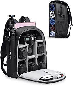 CADeN Camera Backpack Bag with Laptop Compartment 14