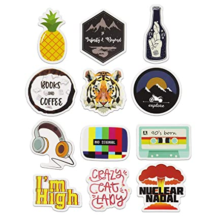 Cute Aesthetic Stickers For Laptop Car Hydro Flask Water Bottle Decal Sticker Pack 12pcs
