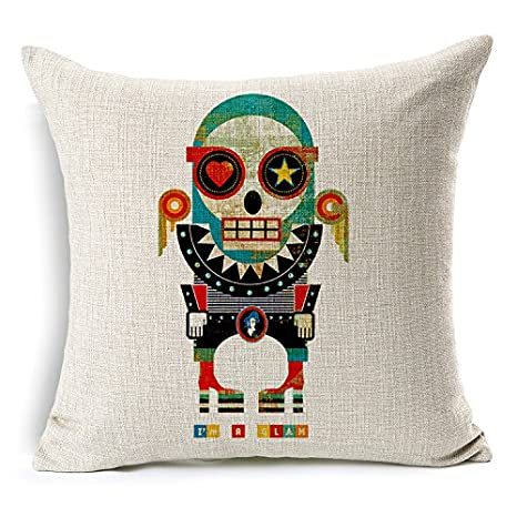 Amazon.com: chicozy Lino y Algodón Fashion Trend Mr. Zombie ...