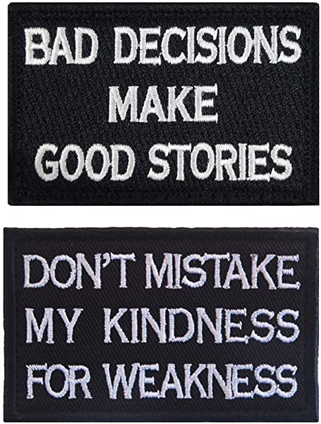 MY KINDNESS FOR WEAKNESS ARMY MORALE TACTICAL  HOOK PATCH